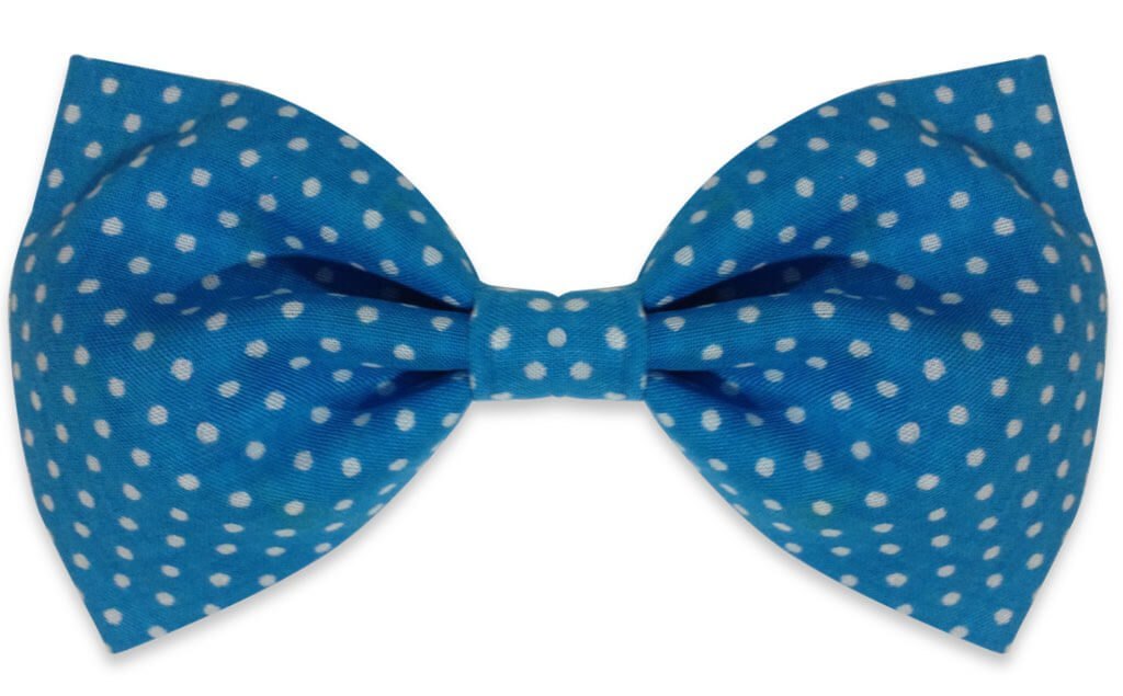 Blue Dots Bow tie