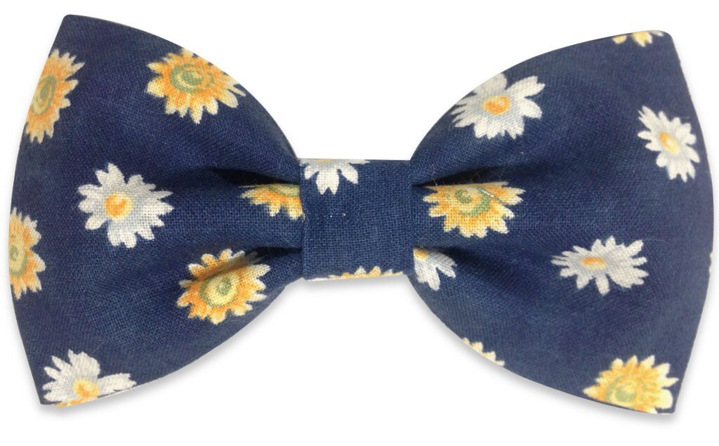 Blue flowers bow tie