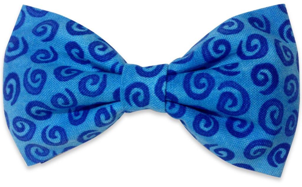 blue spiral bow tie