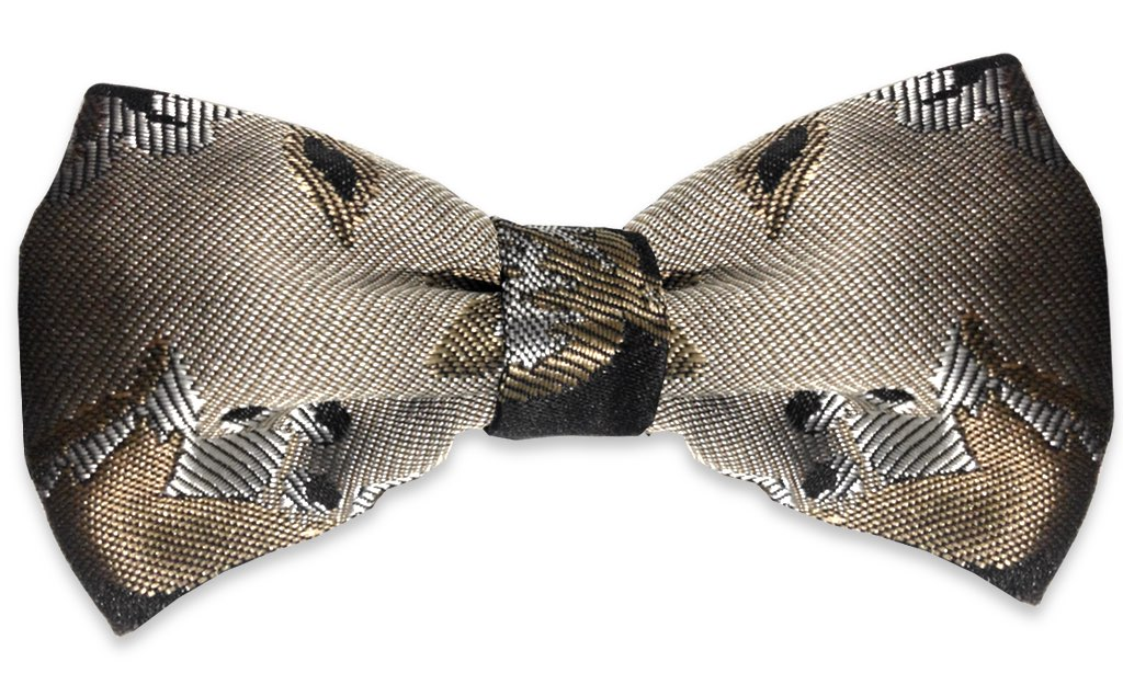 bronze wedding bow tie