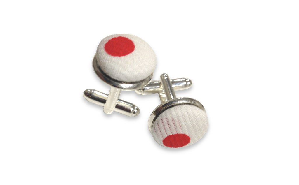 red point cufflinks