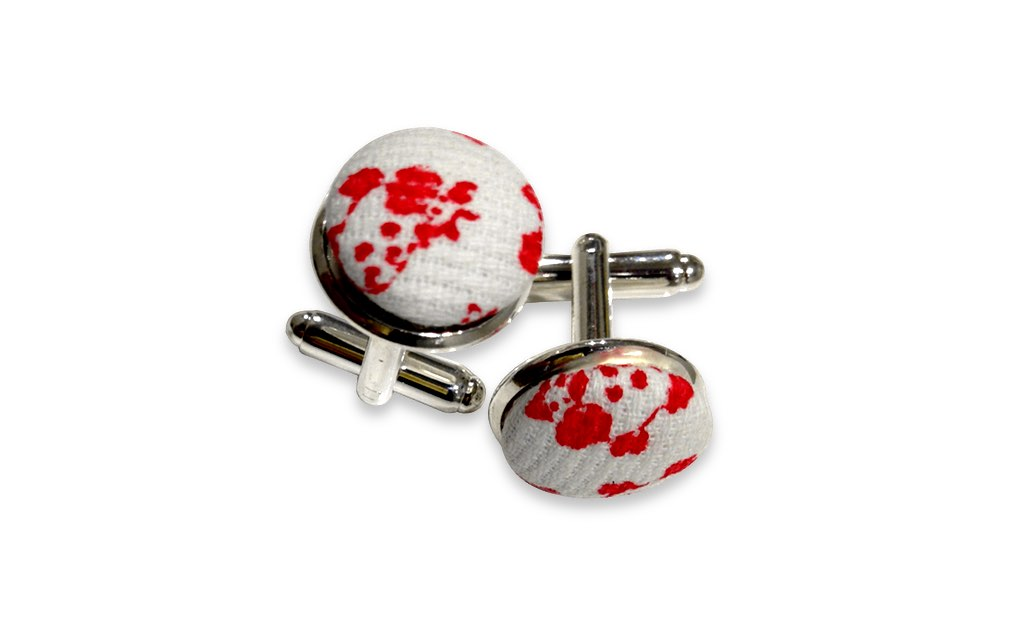 cow red cuff links