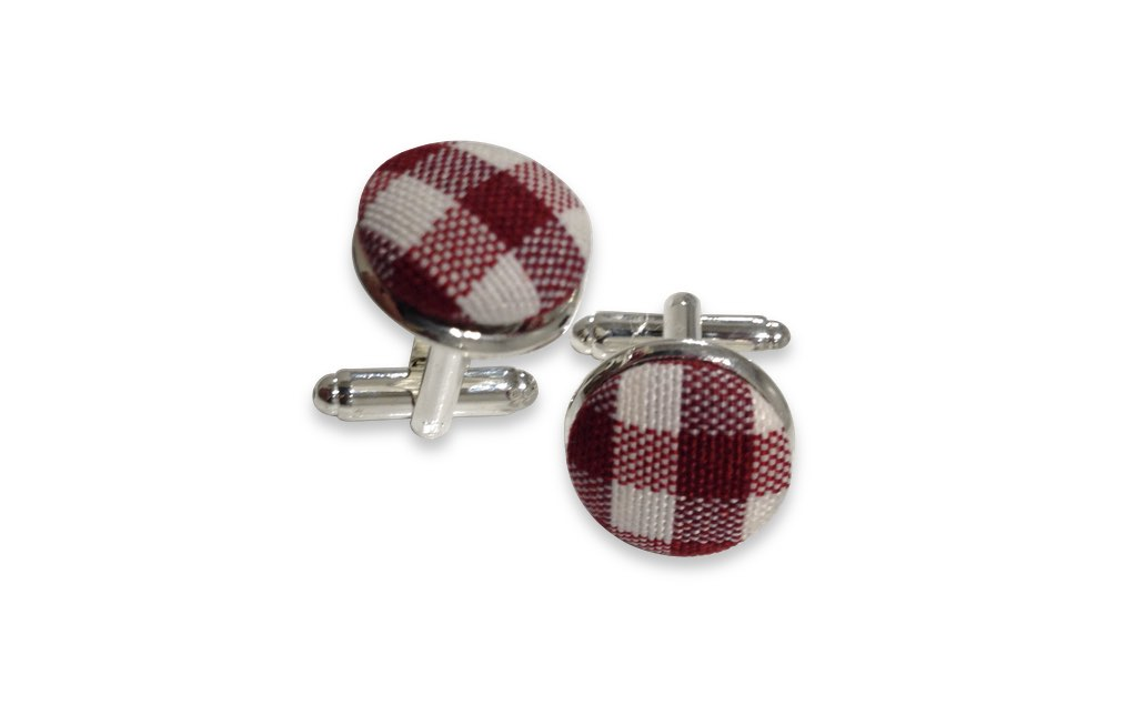 Brown plaids cuff links