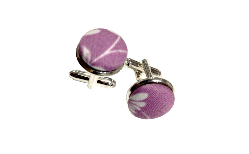 purple cuff links