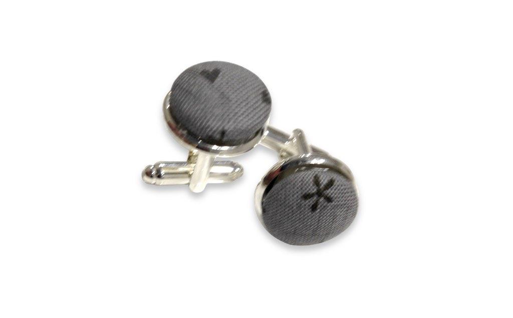 grey cufflinks