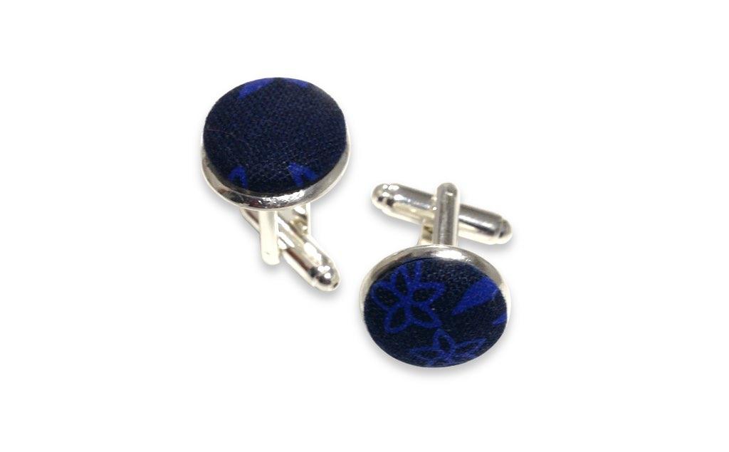 blue and black cufflinks