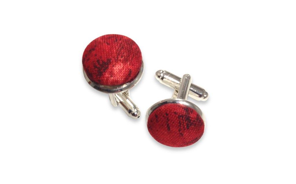 red cufflinks