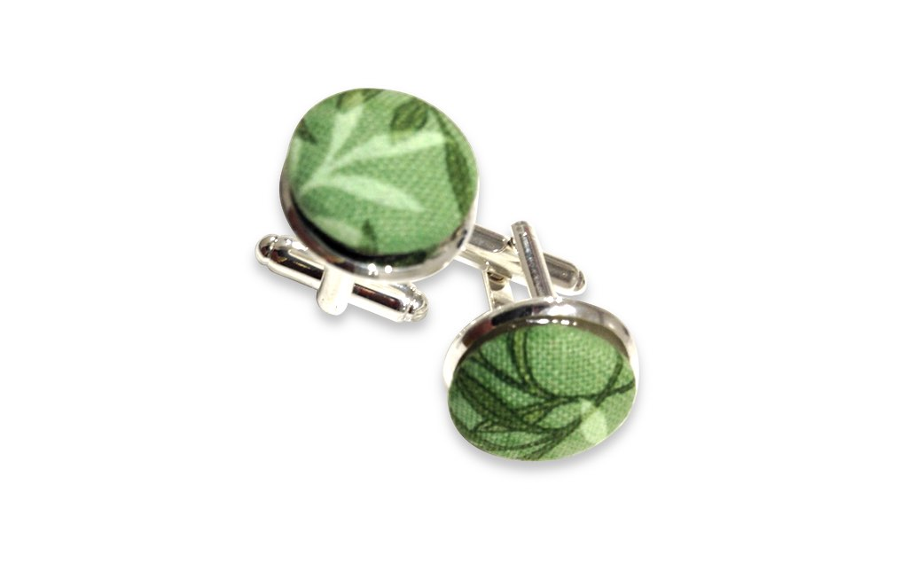 vegetal green cuff links