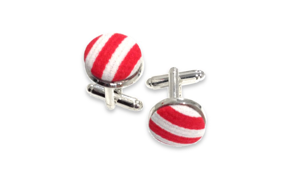 black and red stripes cuff links