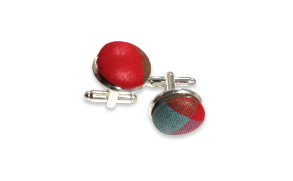 multicolor plaids cuff links