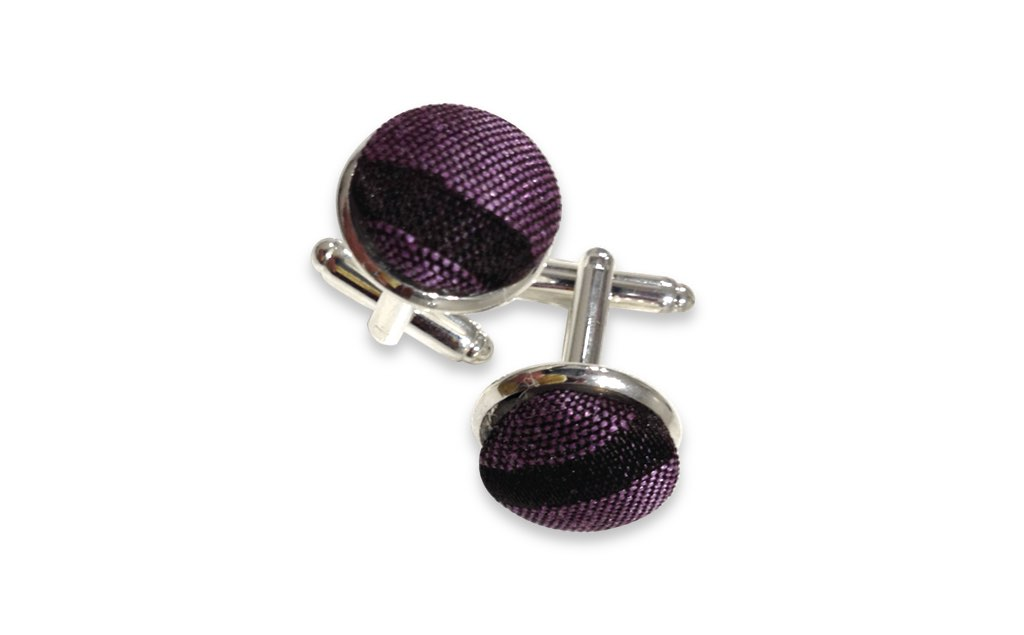 black and purple cuff links