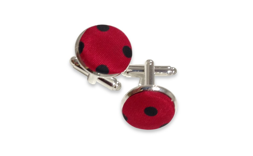 red and black cufflinks