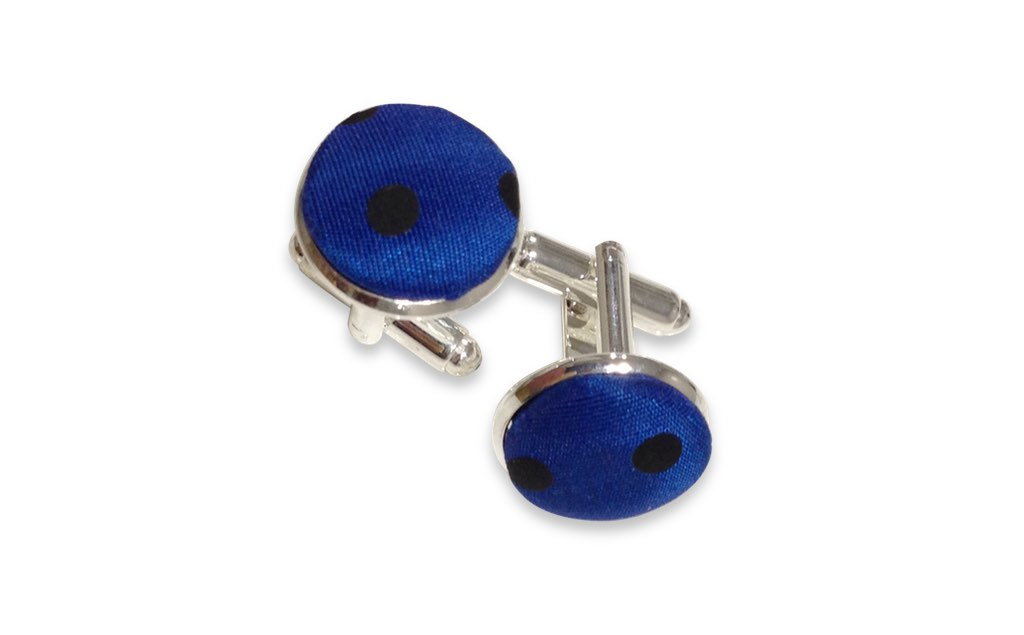 blue and black cufflinks