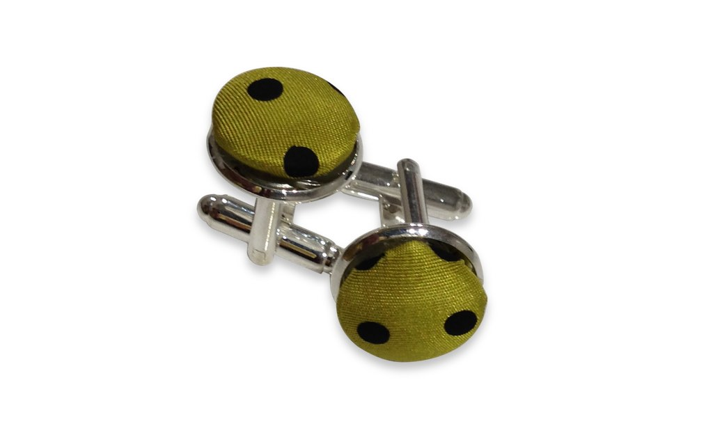 pistachio dotted cuff links