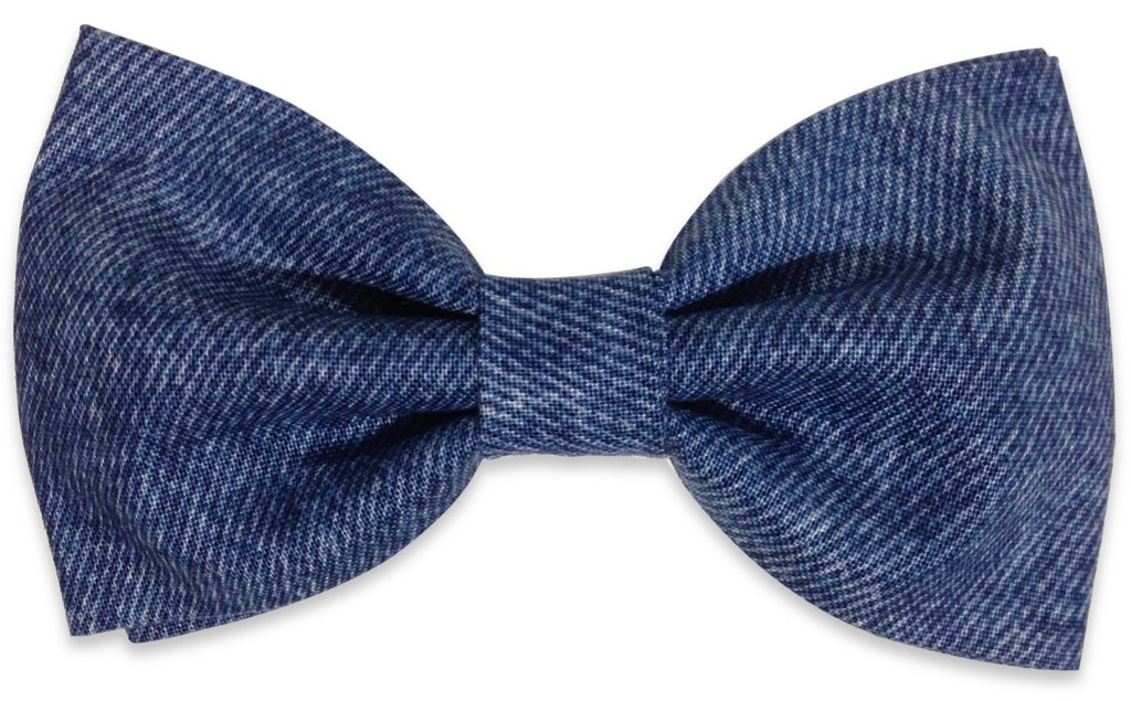 Denim Bow Tie Blue Jeans