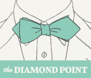 Diamond Point Bow Tie