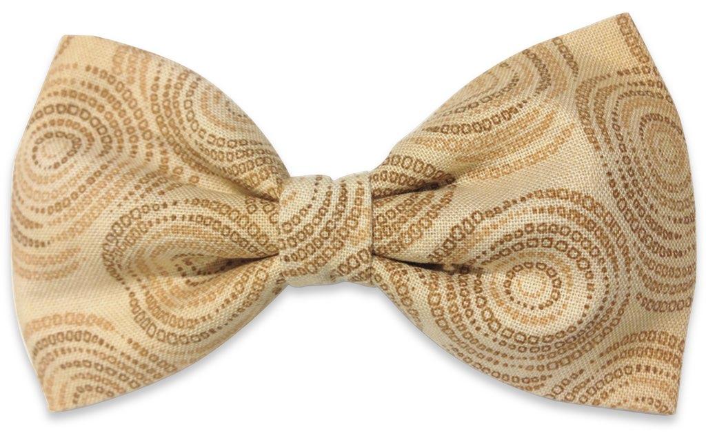 gold spiral bow tie