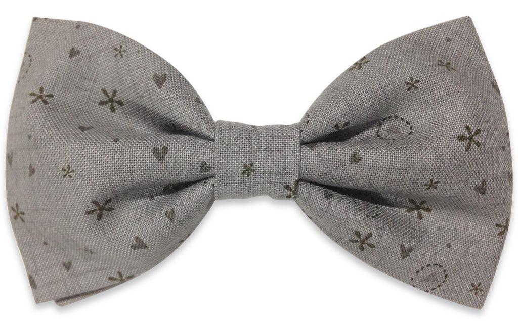 gray bowtie