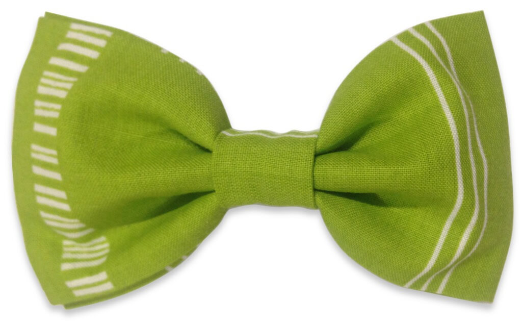 green and white bowtie