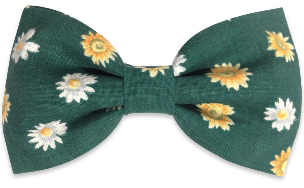 green flowers bow tie