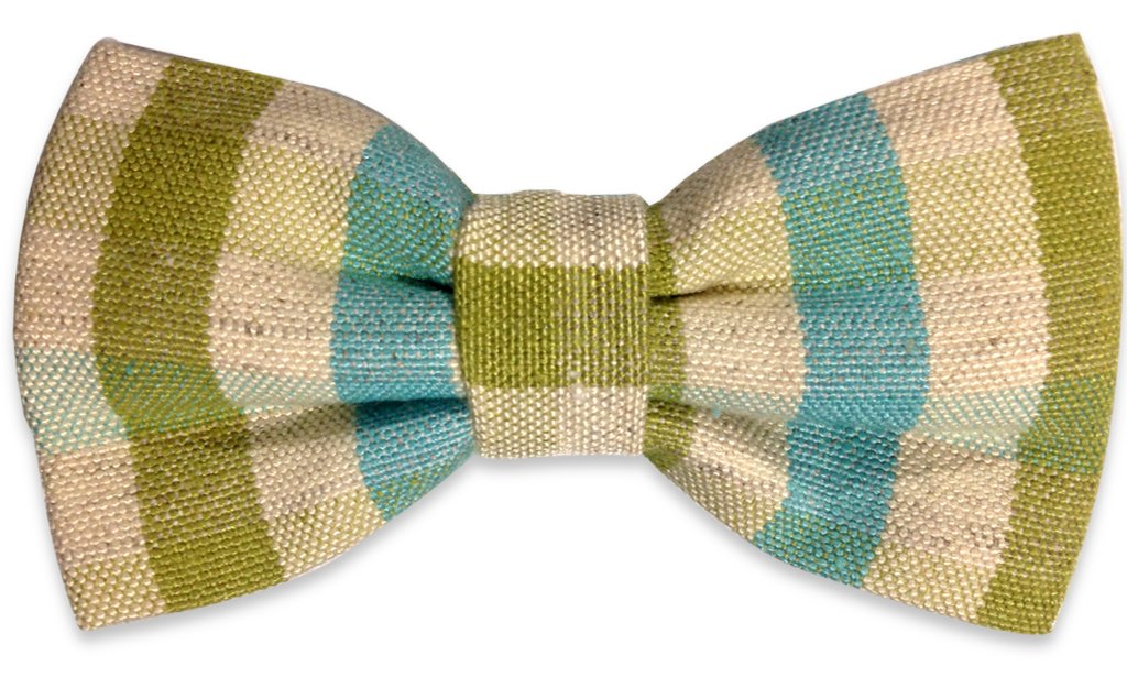 green plaids bow tie