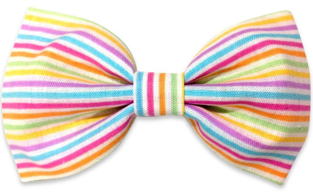 multicolor lines bowtie