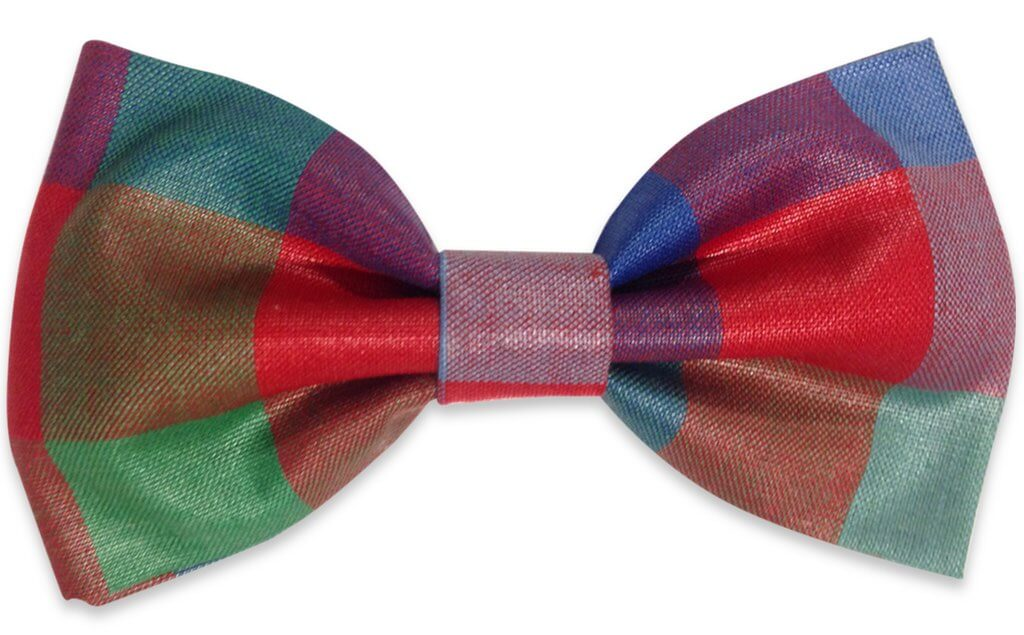 multicolor plaids bow tie