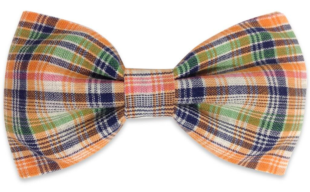 Multicolor Plaids Bow Tie