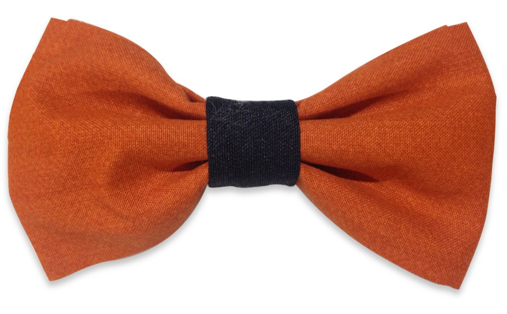 orange black bow tie