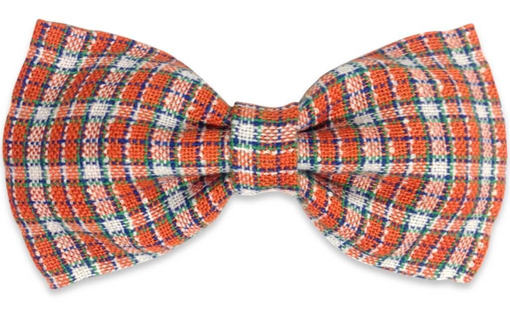orange plaids Bow Tie for men