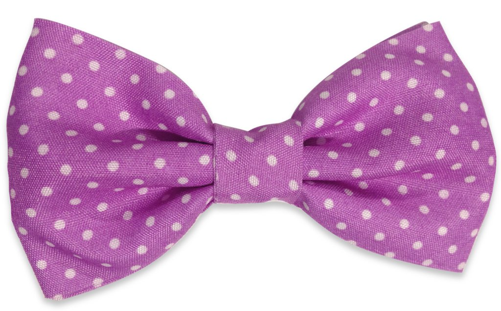 pink dots bow tie