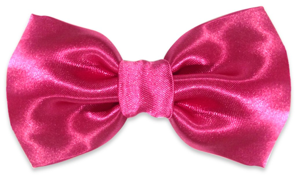 pink plain bow tie