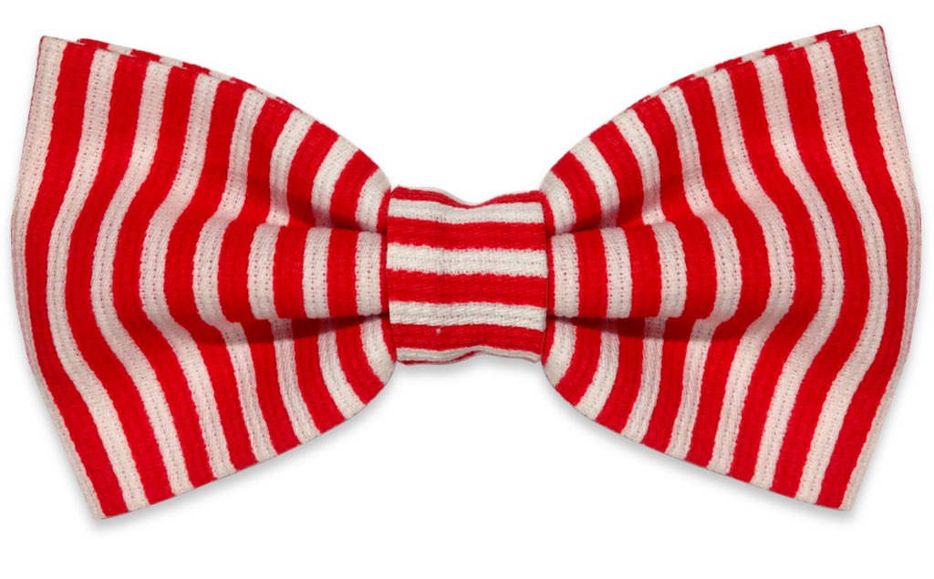 red and white stripes bow tie