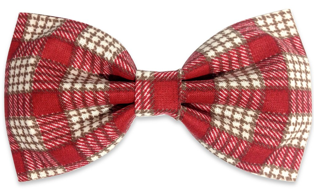 red black plaids bow tie