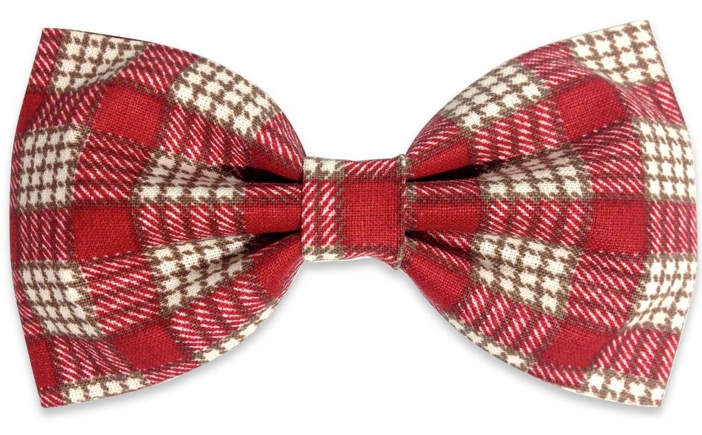 red black plaids bow tie
