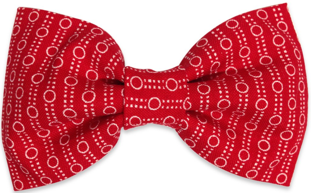 Red dots bow Tie
