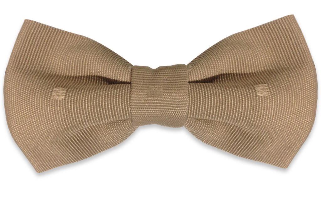 toffee plain bow tie