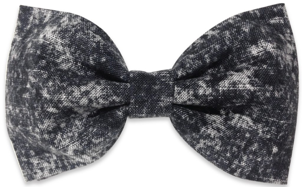 washed-out black bow tie