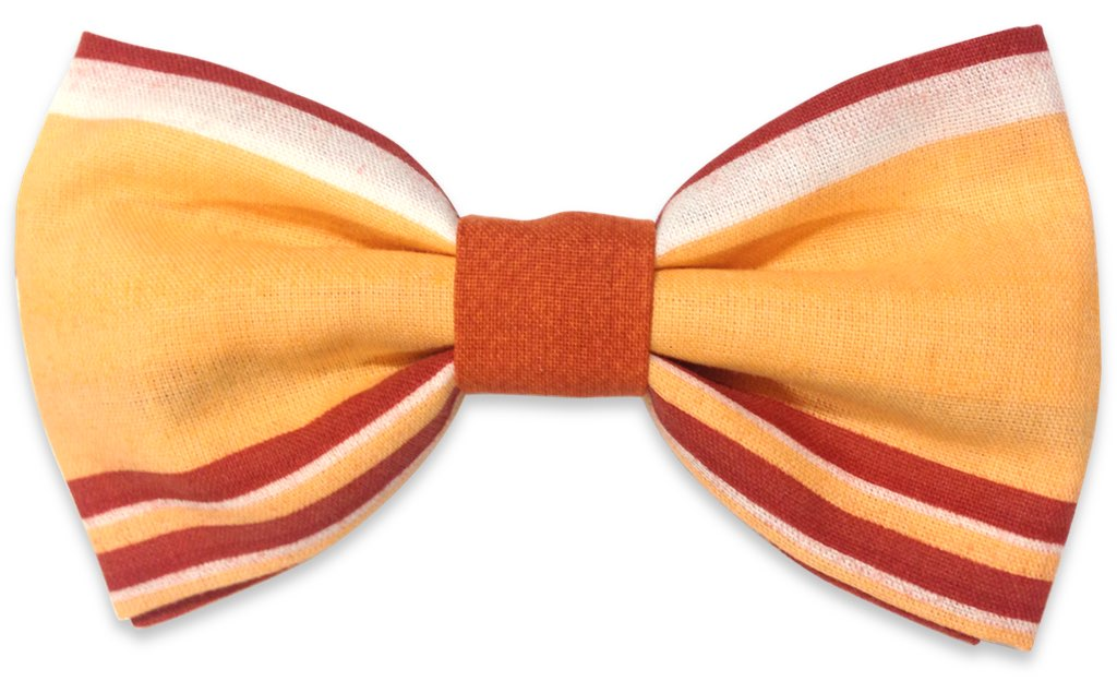 yellow stripes bow ties